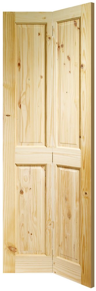 Four Panel Knotty Pine Unfinished Internal Bifold Door - Doors & More