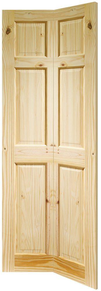 Knotty Pine Colonial Style Six Panel Internal Bifold Door Doors More