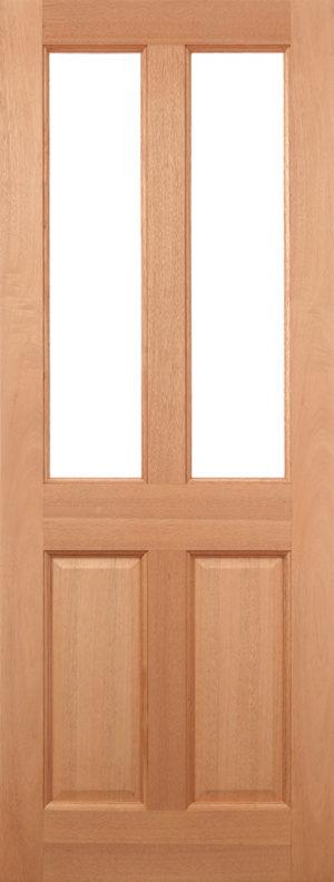 External Hardwood M/&T 2XG Door with Clear Glass Various Sizes