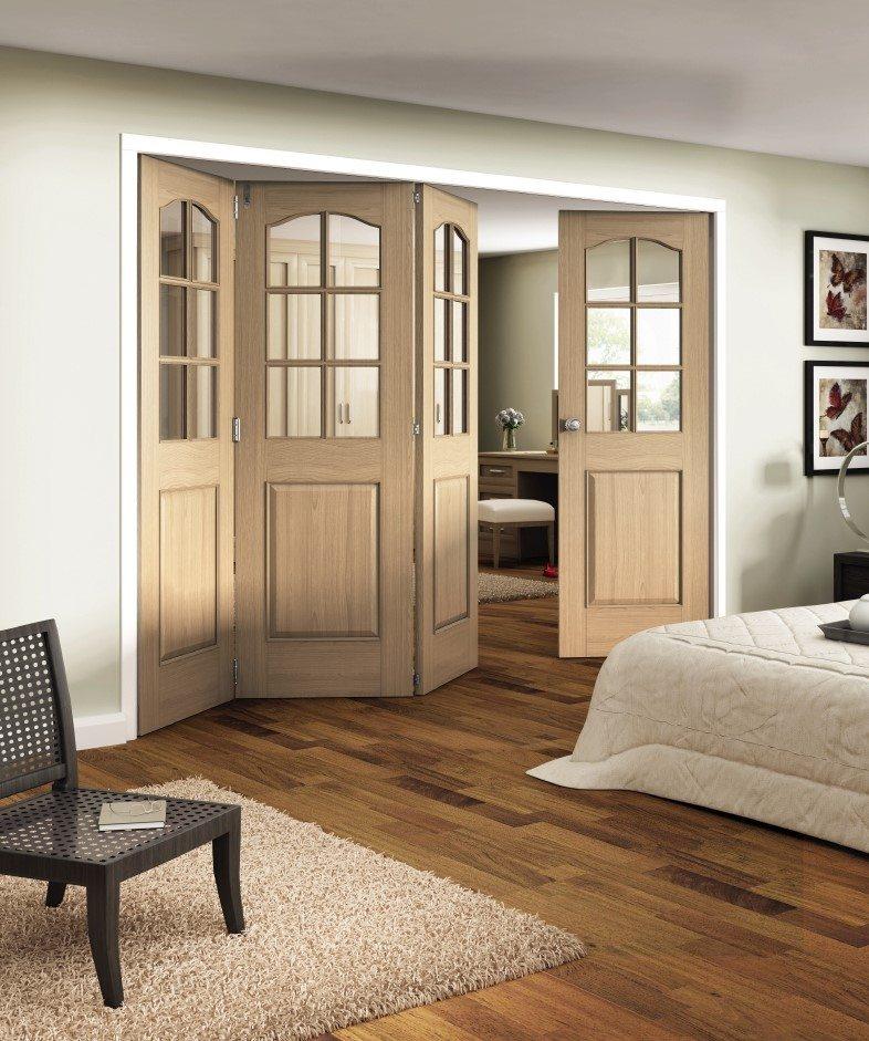 Huntingdon Unfinished Oak 6 Light Folding Sliding Doors Doors More