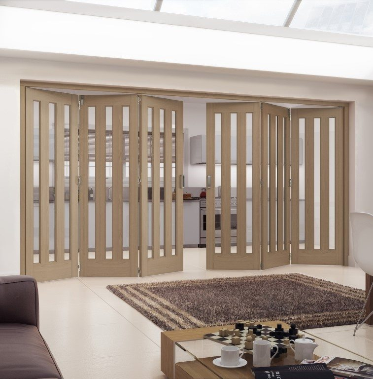 Aston Glazed Unfinished Oak Internal Folding Sliding Door Doors More