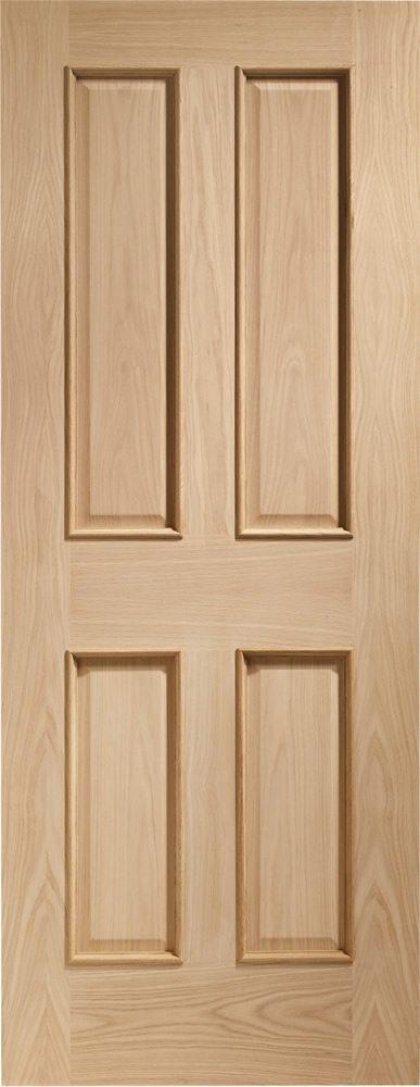 Oak Victorian 4 Panel Fire Door With Raised Mouldin Fire Doors