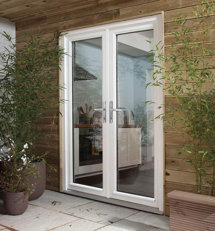 Dreamvu double french doorset softwood patio doors for Double opening french patio doors