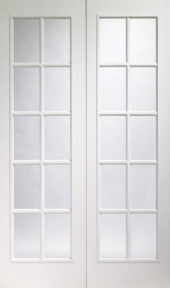 White moulded internal french doors from doors more for White french doors