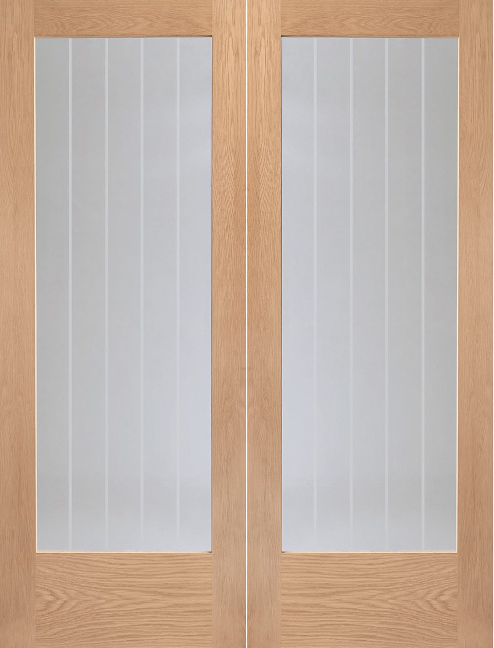 sale retailer 44419 6bc3e Suffolk Oak Rebated Door Pair with Clear Etched Glass
