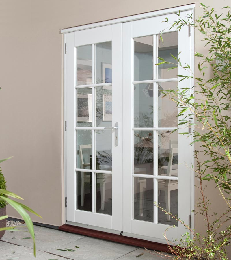 wellington white french doorset georgian softwood patio doors