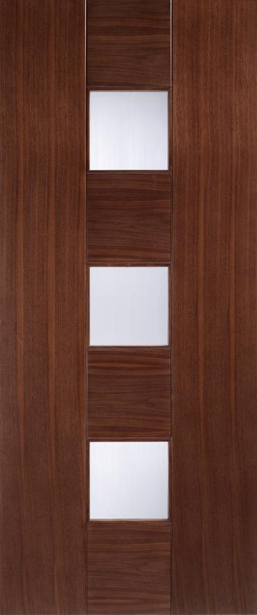 Catalonia Glazed Walnut Walnut Interior Doors