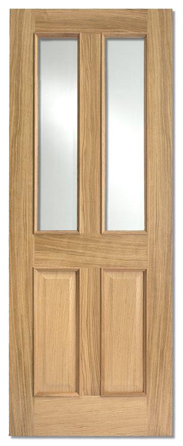 Charming Richmond RM2S Glazed Fire Door FD30Clear Glass