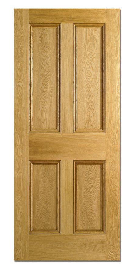 4p Oak White Oak Veneer Interior Doors