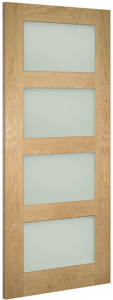 Coventry Glazed Oak Shaker Frosted Glass Internal Doors