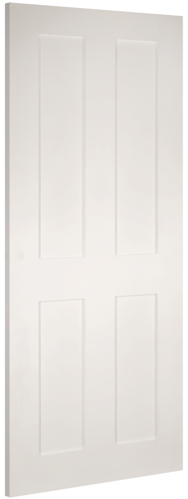 Eton 4 Panel Flat White Fd30 Fire Doors