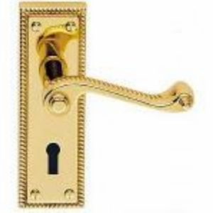 Georgian Polished Brass Lock Door Set