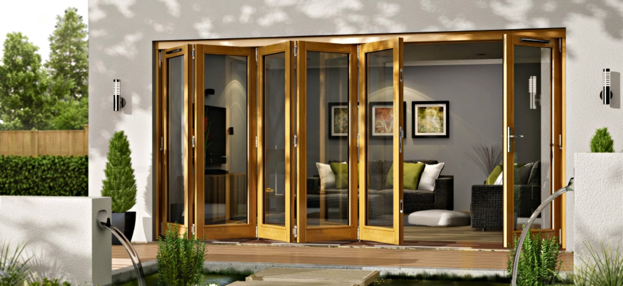 External folding and sliding doors patio doors from doors for Outside garden doors