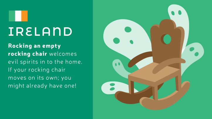 An empty rocking chair can invite evil spirits in to your home