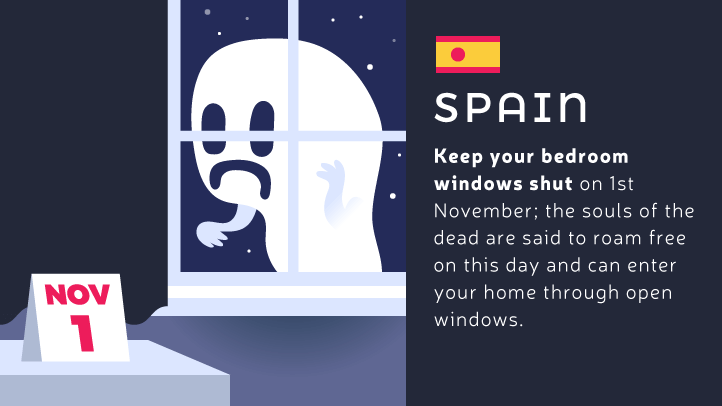 Keep your windows closed on all saints day