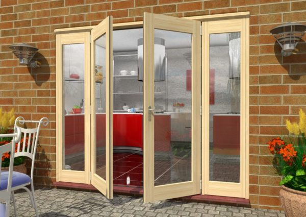 Tradesmen external bi fold doors for French doors that both open
