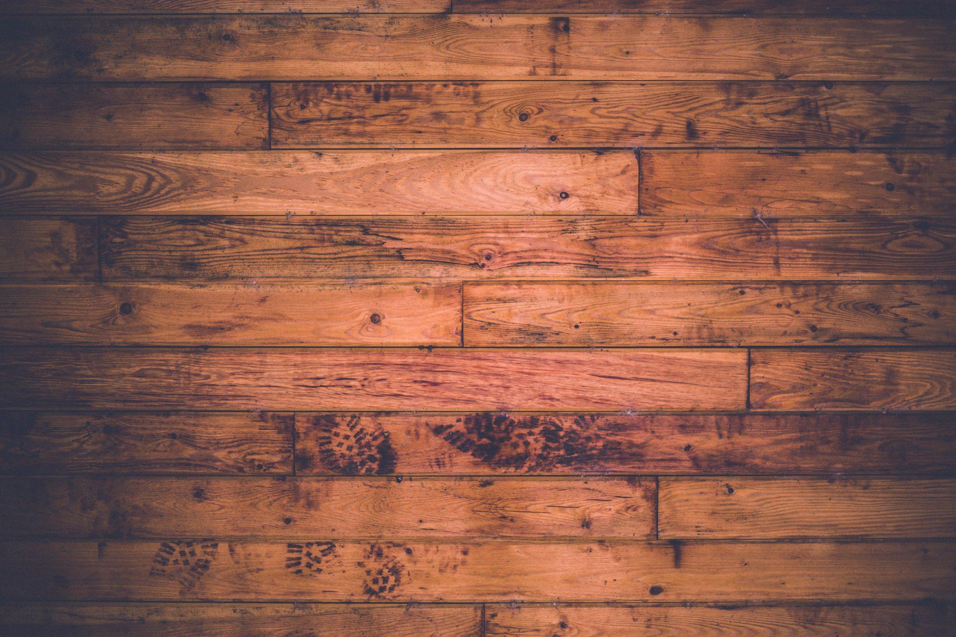 Dark wood floor boards