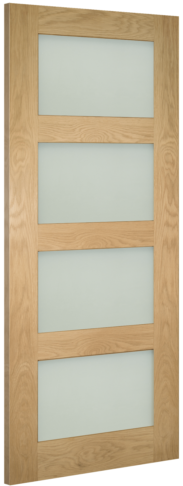 Coventry Glazed Oak Shaker - Frosted Glass Fully Finished