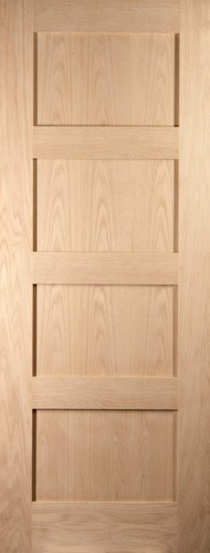 Oak Shaker 4 Panel Fully Finished