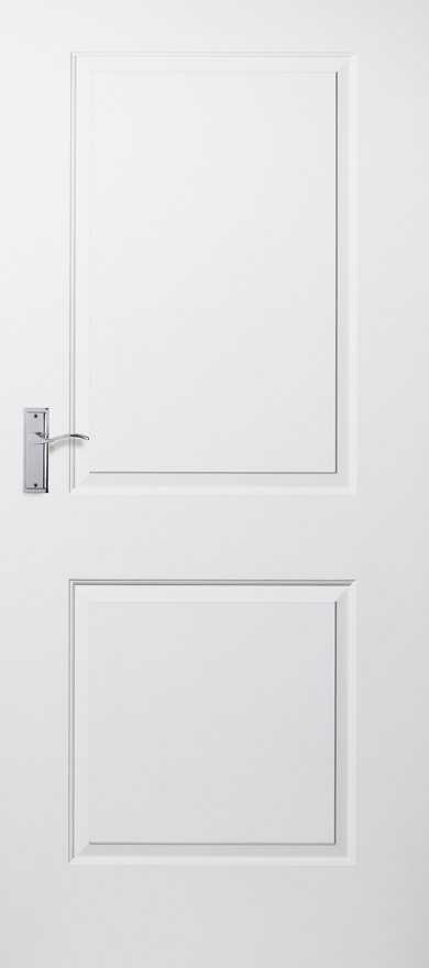 Cambridge-White Moulded Smooth 2 Panel-Fire Door