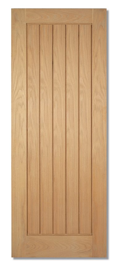 Mexicano Oak Panel Fire Door Fully Finished
