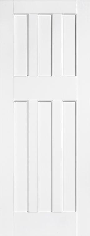 DX 60's Style White Primed Fire Door