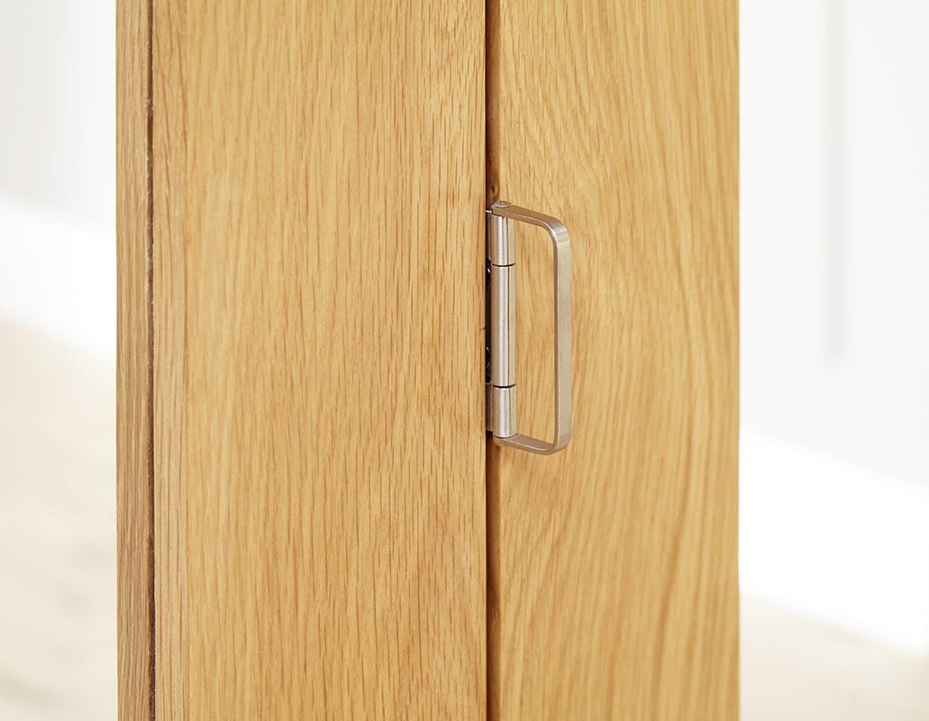 NUVU Glazed Oak P10 Roomfold - Frosted