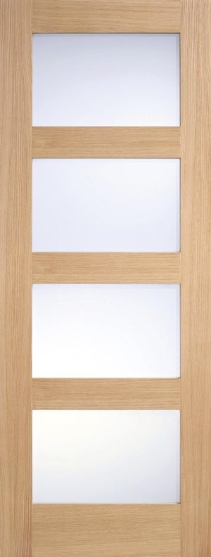 Oak Shaker 4L Frosted Glass Fully Finished