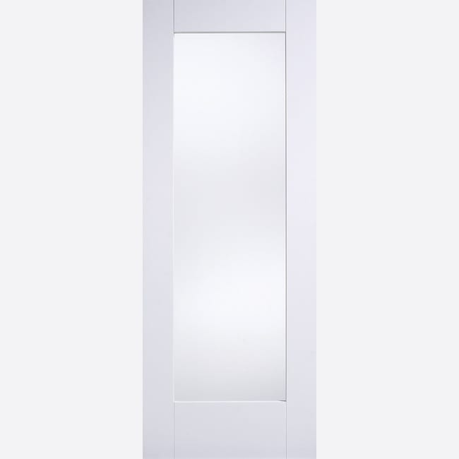 White Shaker 1 light With Frosted Glass