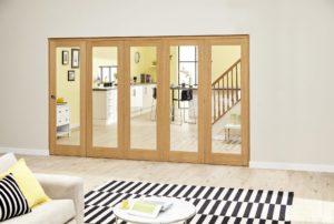 NUVU Glazed OAK P10 Roomfold - Clear