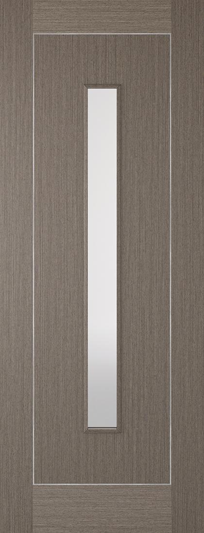 Chocolate Grey with Inlay 1 Light Glazed