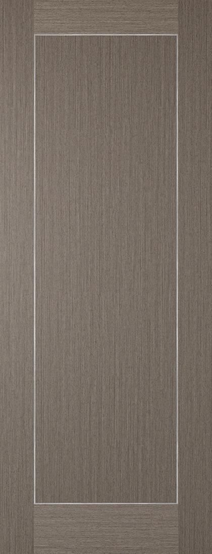 Chocolate Grey with Inlay 1 Panel Fire Door