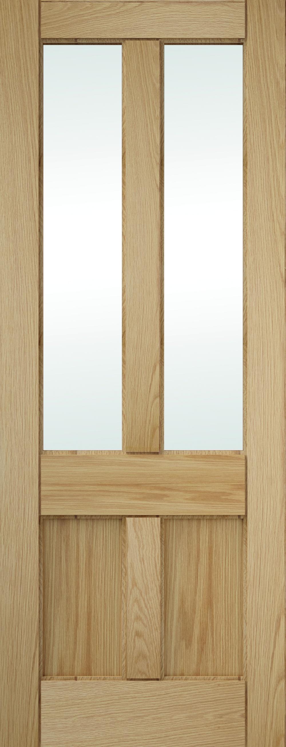 4 Panel Clear Glazed Oak