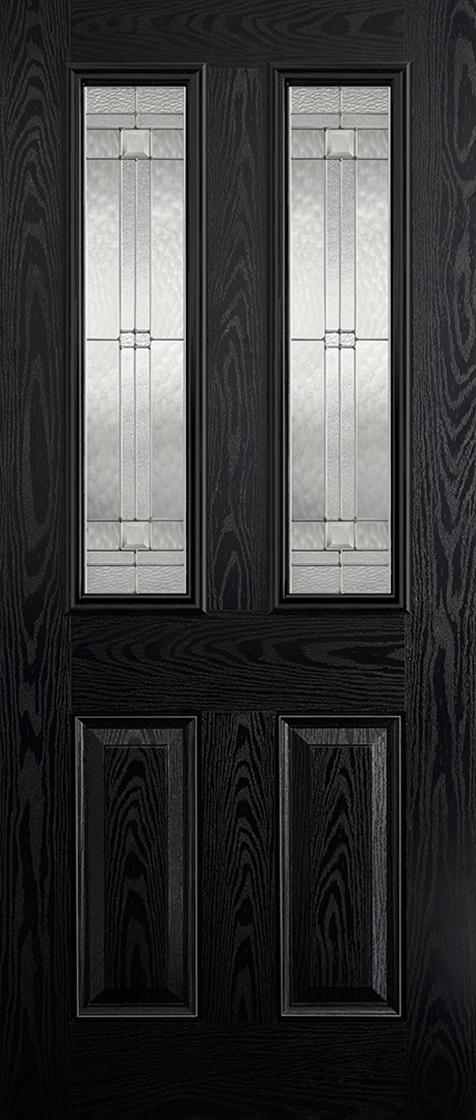 GRP Black & White Malton Clear Glazed