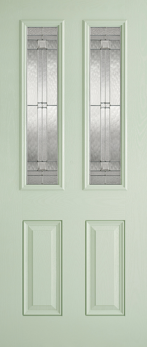 GRP Green & White Malton Clear Glazed