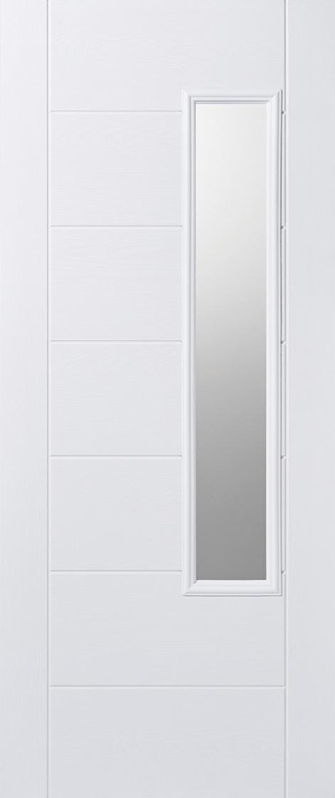 GRP White Newbury Clear Glazed