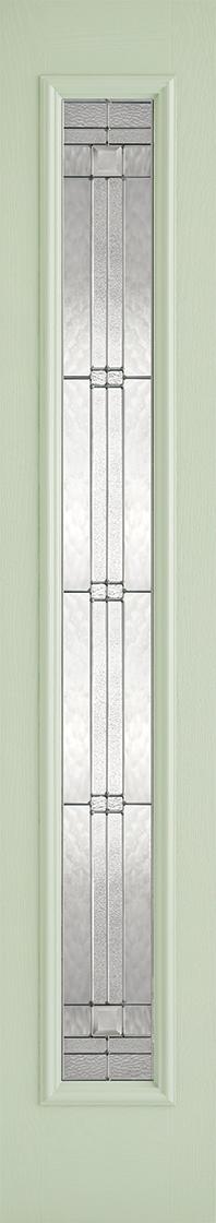 GRP Green & White Elegant Sidelight
