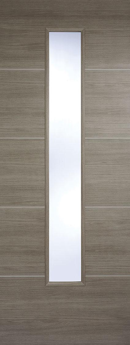 Laminate Light Grey Santandor Clear Glazed