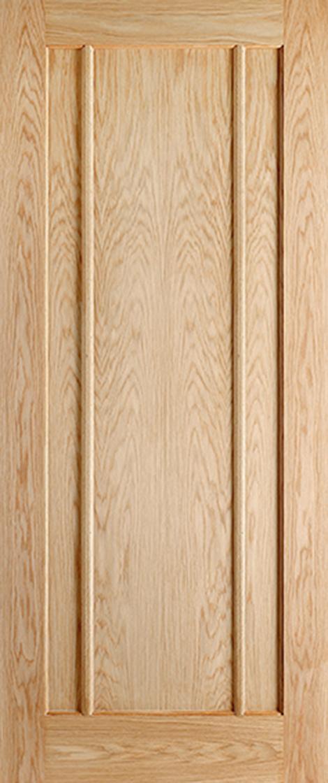 Oak Pre-Finished Lincoln 3 Panel Fire Door