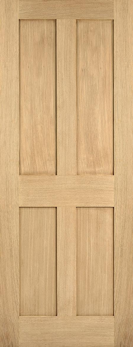 Oak London 4P Fire Door