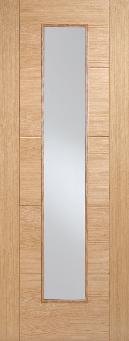 Oak Vancouver Long Light Fire Door