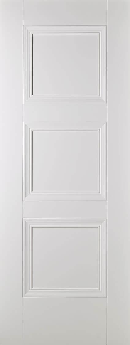 White Primed Amsterdam 3 Panel Fire Door