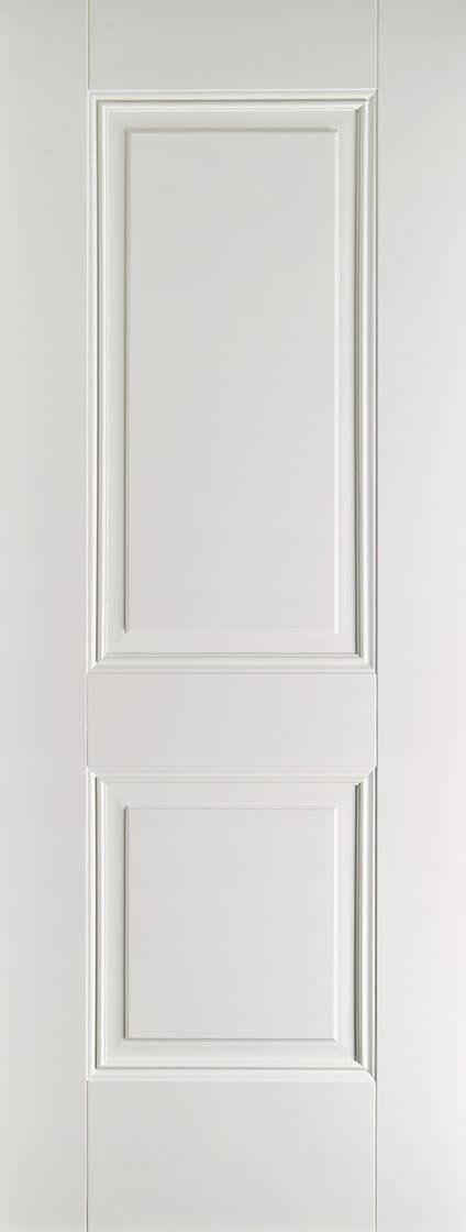 White Primed Arnhem 2 Panel Fire Door