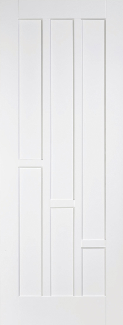 White Primed Coventry 3 Panel Fire Door