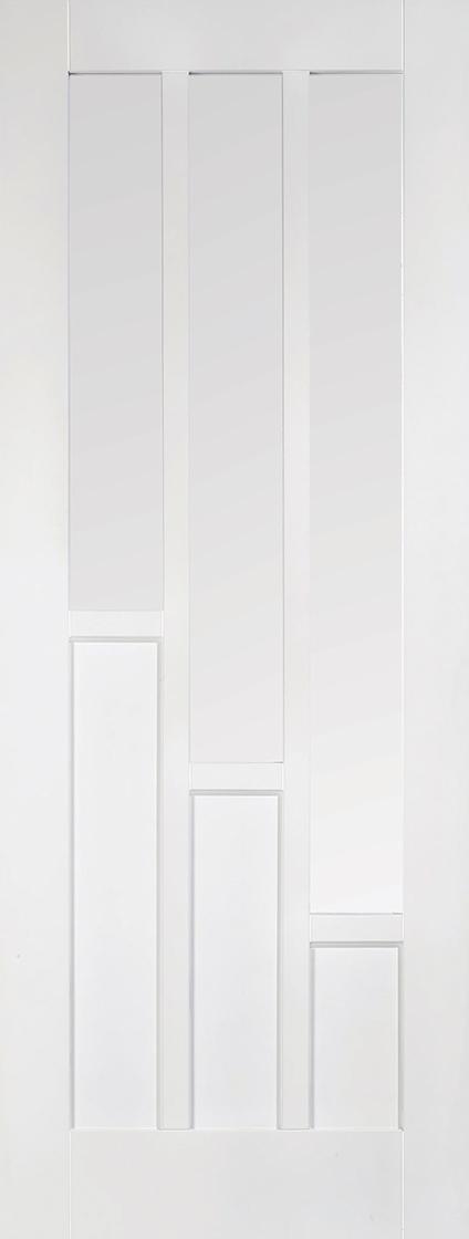 White Primed Coventry 3 Light Clear Glazed