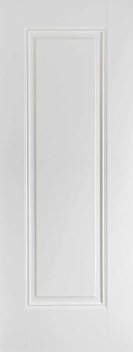 White Primed Eindhoven 1 Panel Fire Door