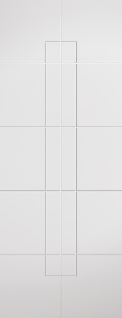White Primed Hove Fire Door