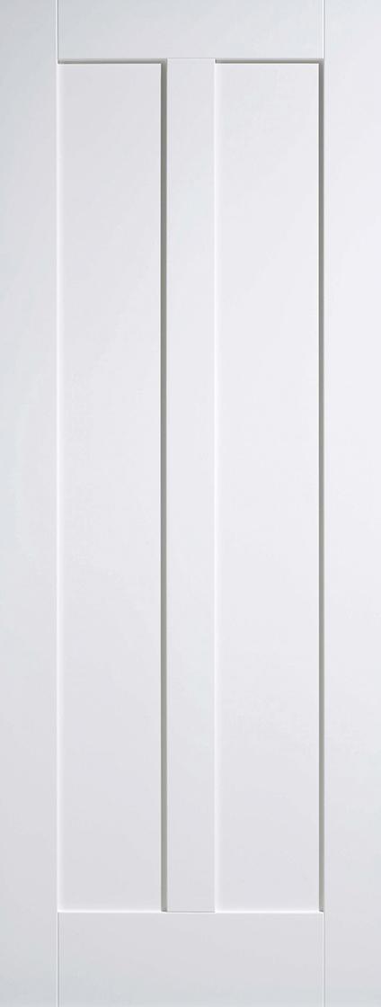 White Primed Maine 2 Panel
