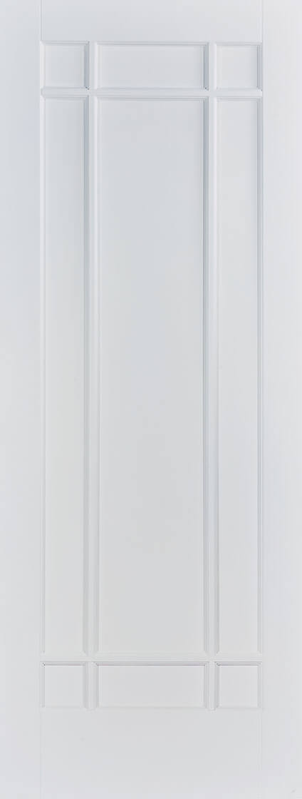 White Primed Manhattan 9 Panel Fire Door