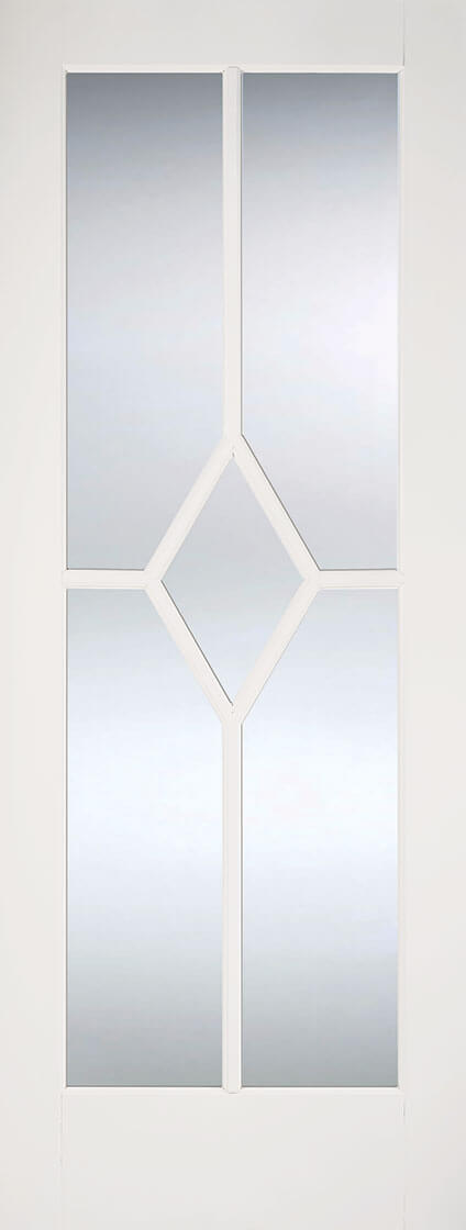 White Primed Reims with Clear Bevelled Glass